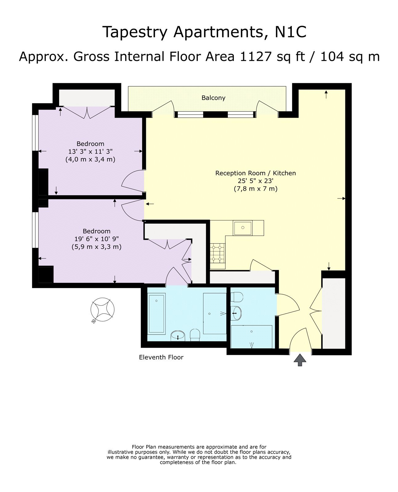 2 Bedroom Apartment For Sale In Tapestry Apartments, 1